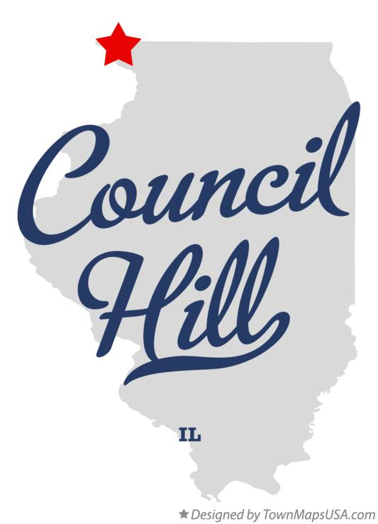 Map of Council Hill Illinois IL