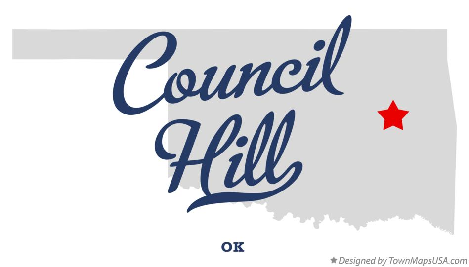 Map of Council Hill Oklahoma OK