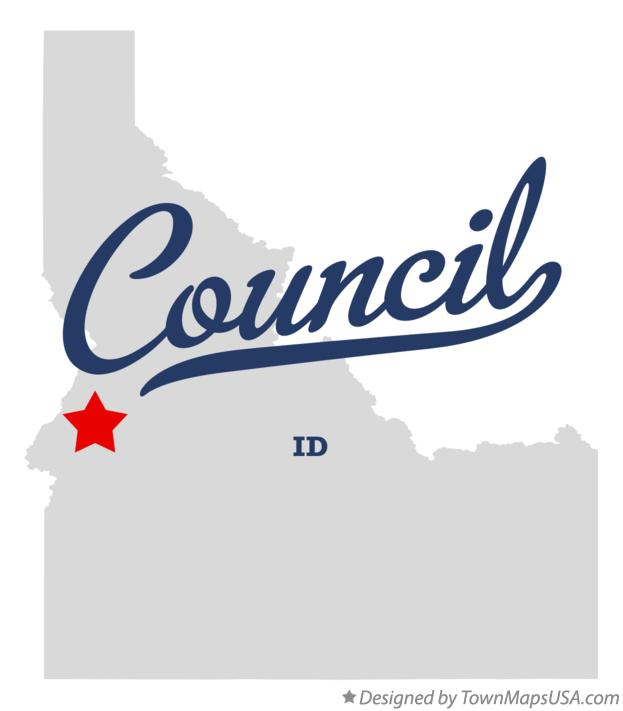 Map of Council Idaho ID