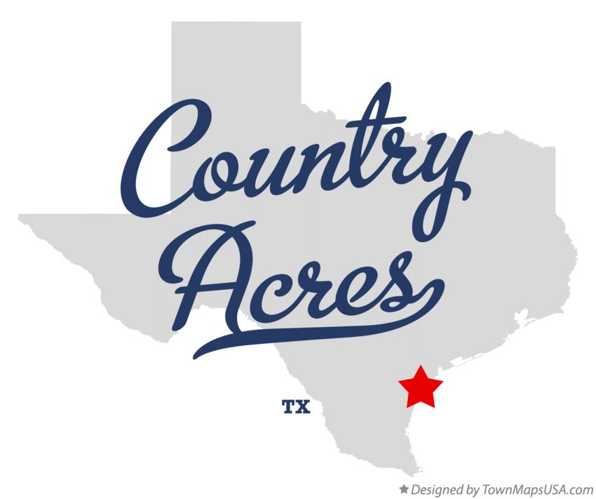 Map of Country Acres Texas TX