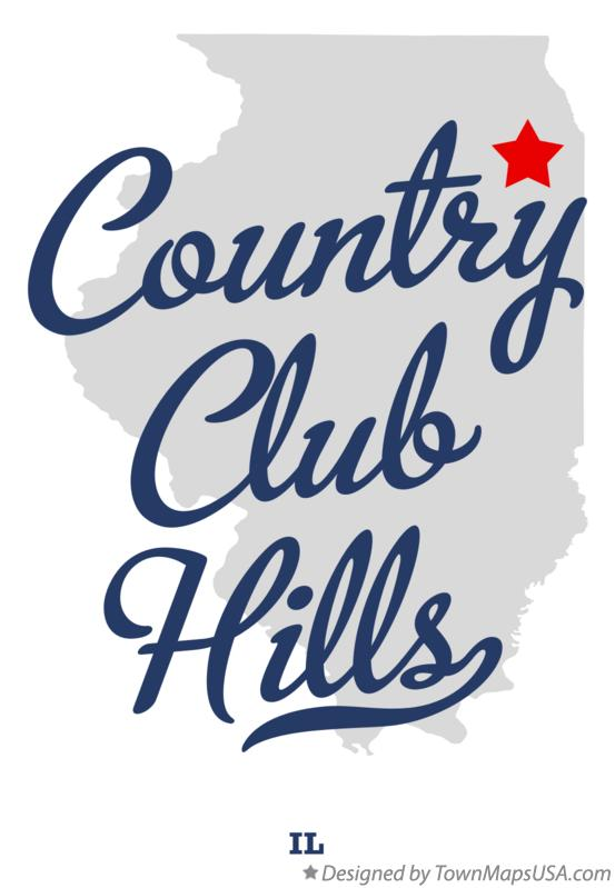 Map of Country Club Hills Illinois IL