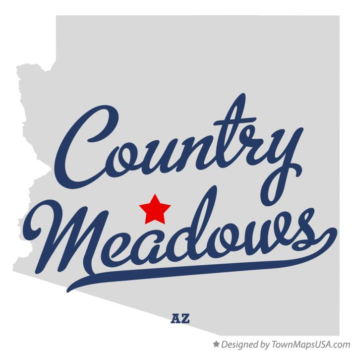 Map of Country Meadows Arizona AZ