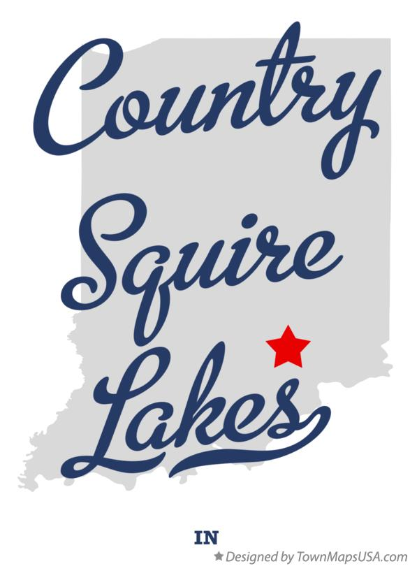 Map of Country Squire Lakes Indiana IN