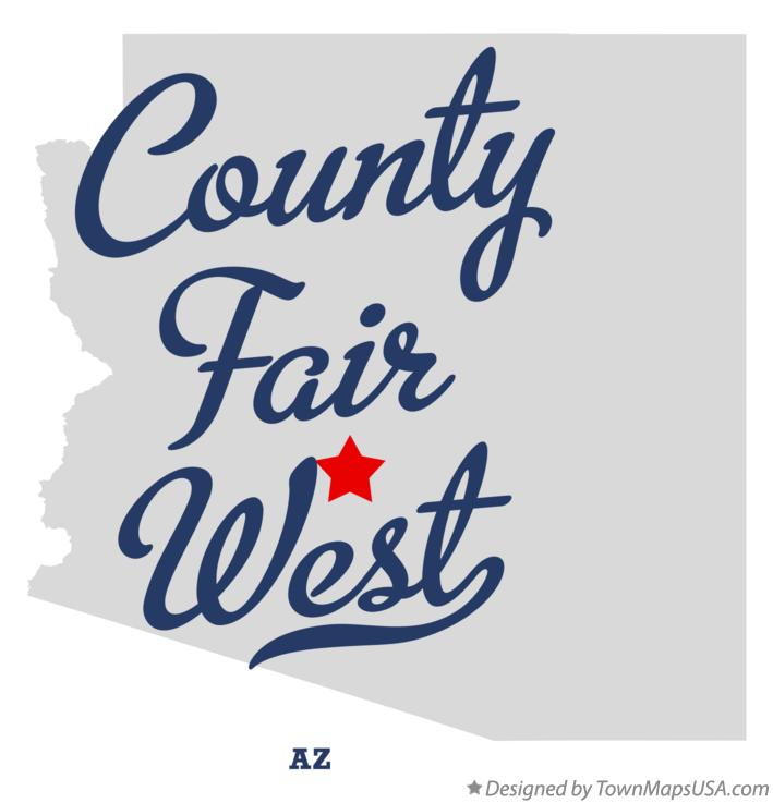 Map of County Fair West Arizona AZ