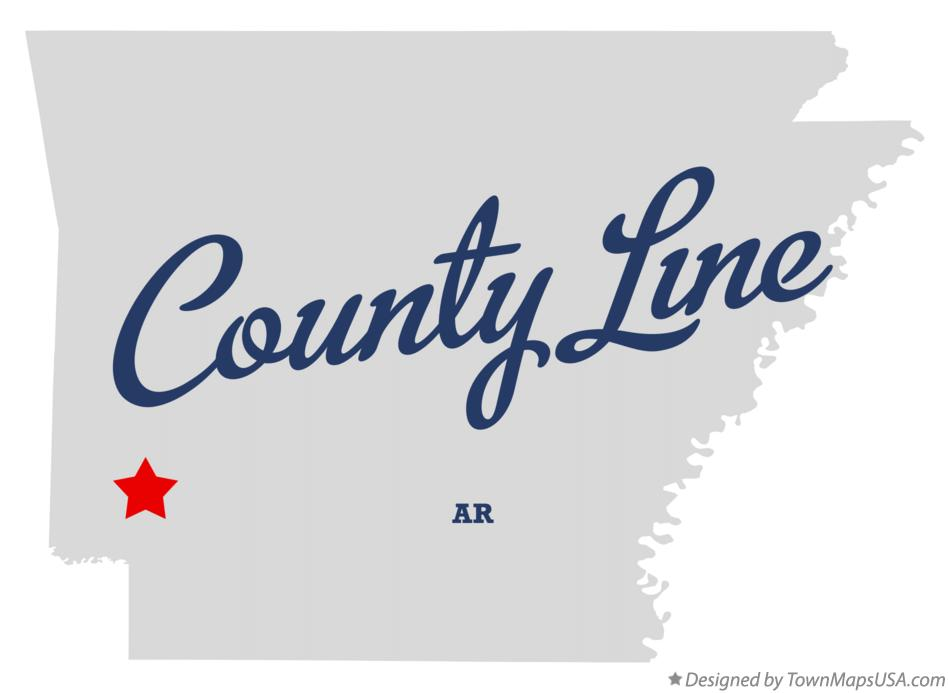 Map of County Line Arkansas AR