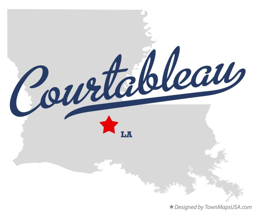 Map of Courtableau Louisiana LA
