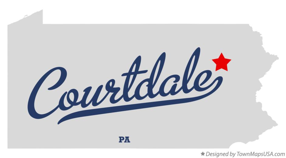 Map of Courtdale Pennsylvania PA