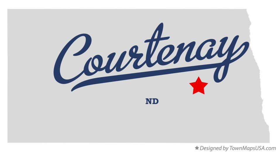Map of Courtenay North Dakota ND