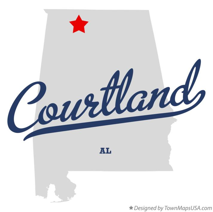 Map of Courtland Alabama AL