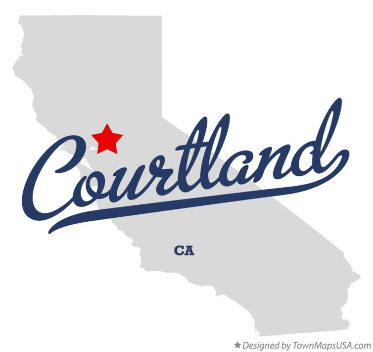 Map of Courtland California CA