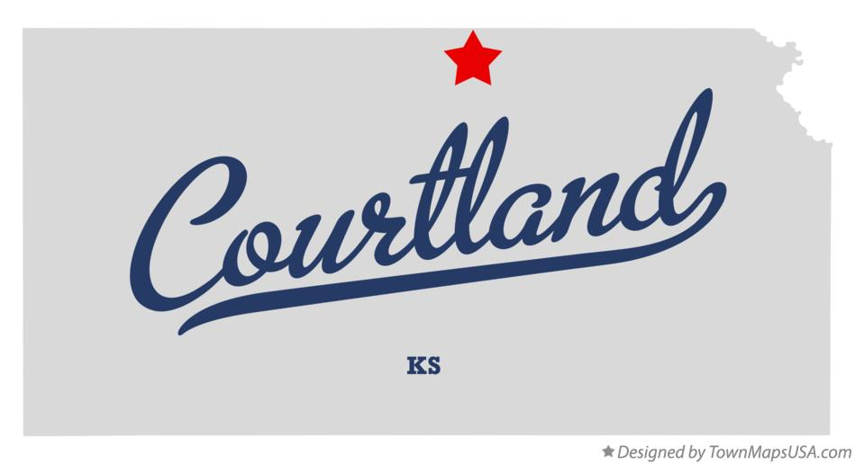 Map of Courtland Kansas KS
