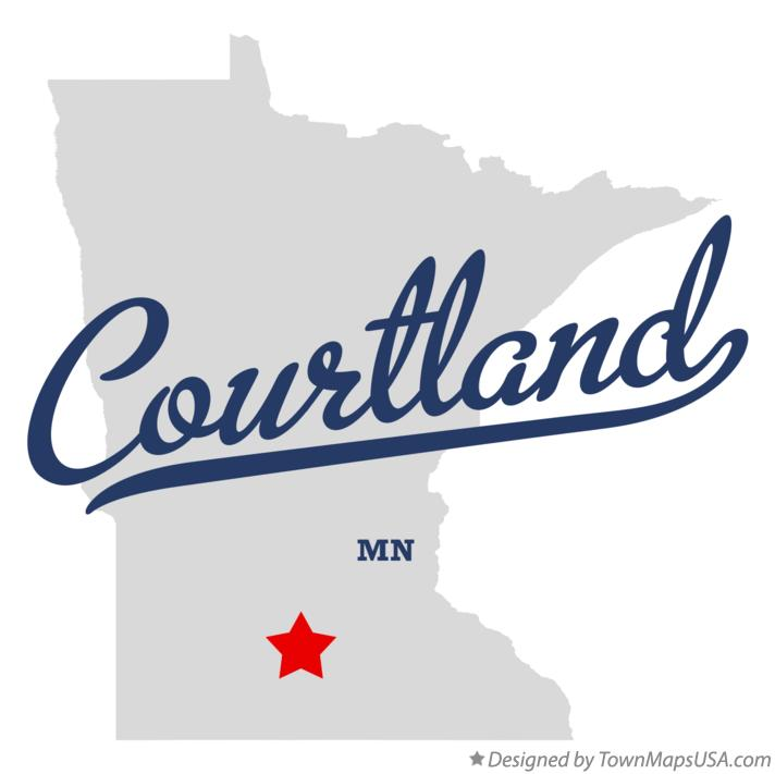 Map of Courtland Minnesota MN