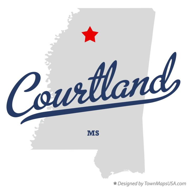 Map of Courtland Mississippi MS