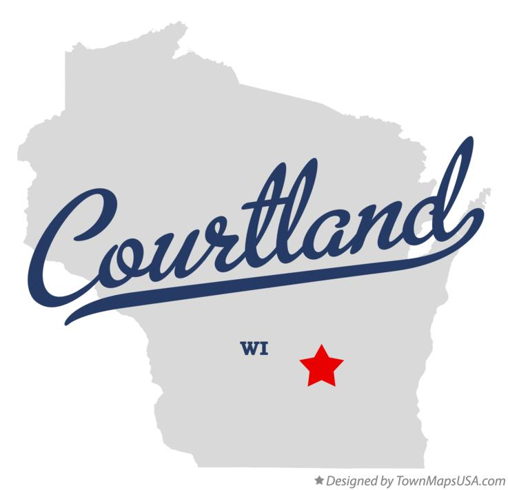 Map of Courtland Wisconsin WI