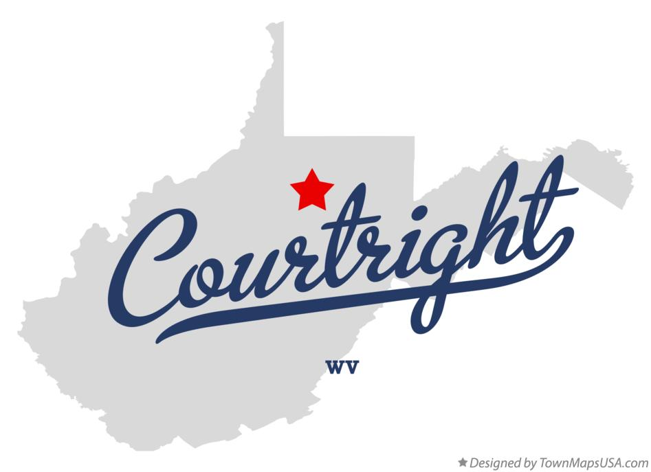 Map of Courtright West Virginia WV