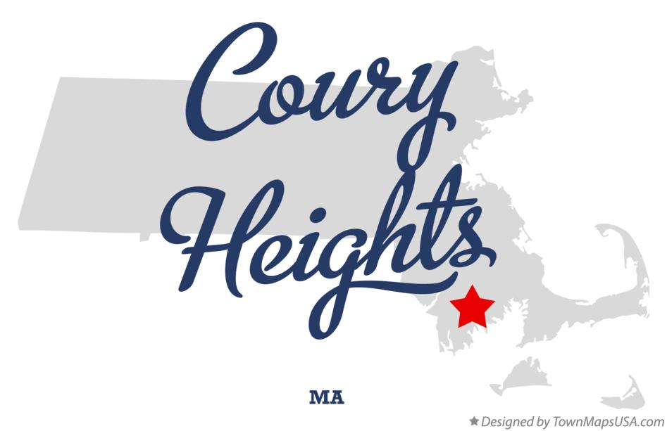 Map of Coury Heights Massachusetts MA