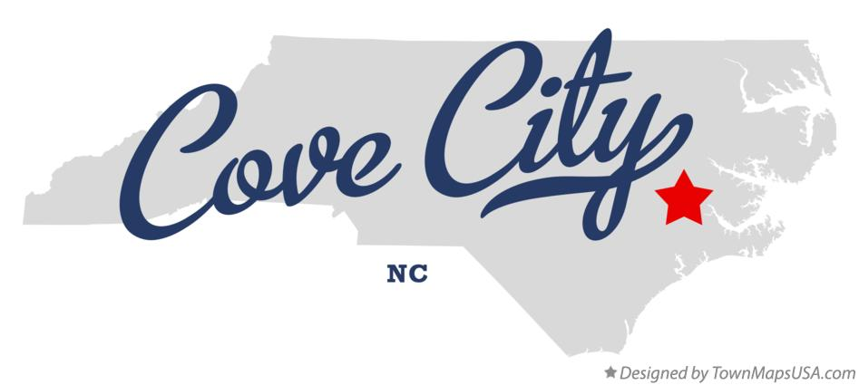 Map of Cove City North Carolina NC
