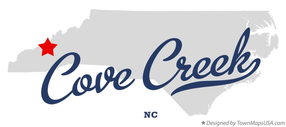 Map of Cove Creek North Carolina NC