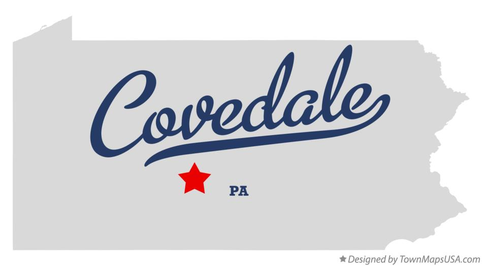 Map of Covedale Pennsylvania PA