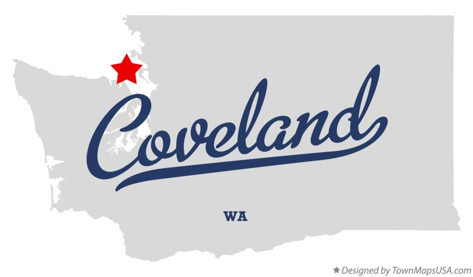 Map of Coveland Washington WA