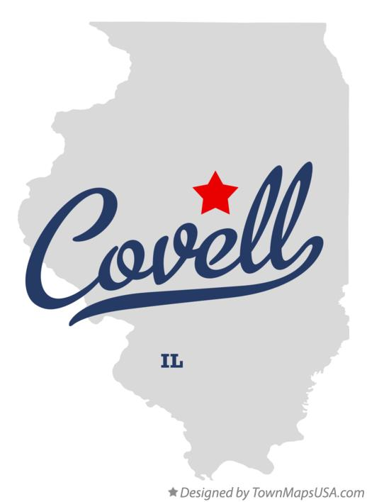 Map of Covell Illinois IL