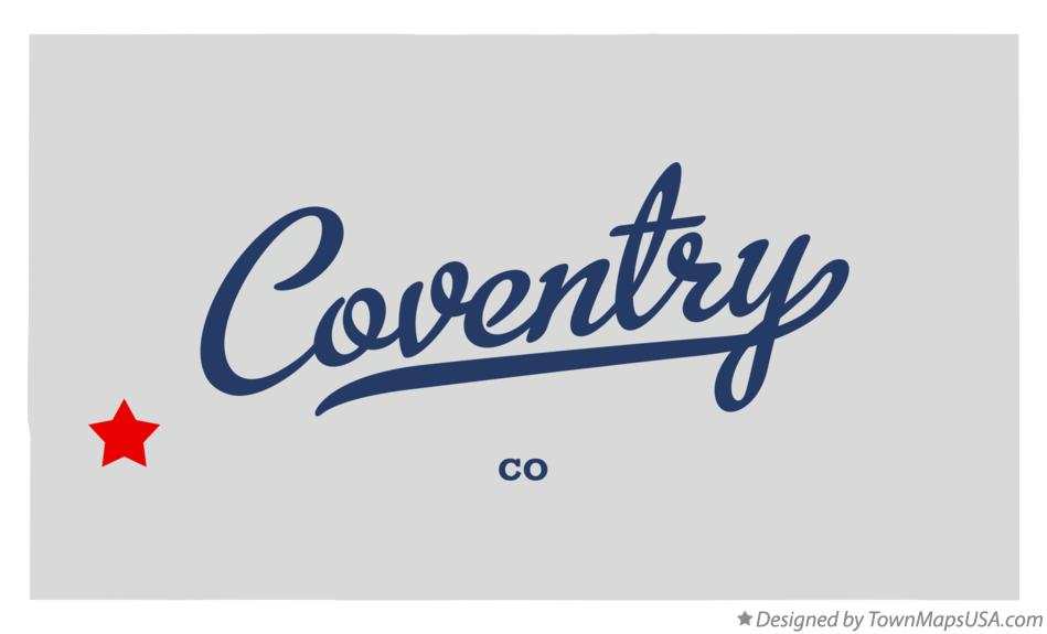 Map of Coventry Colorado CO