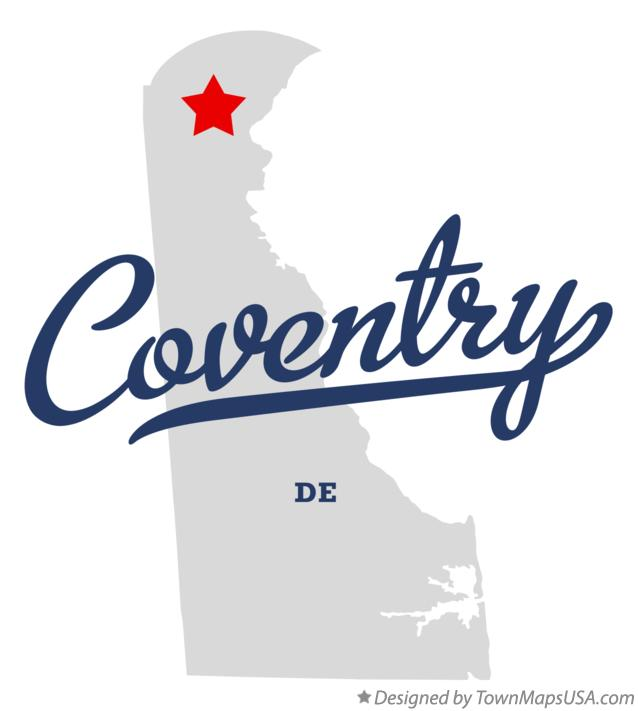 Map of Coventry Delaware DE
