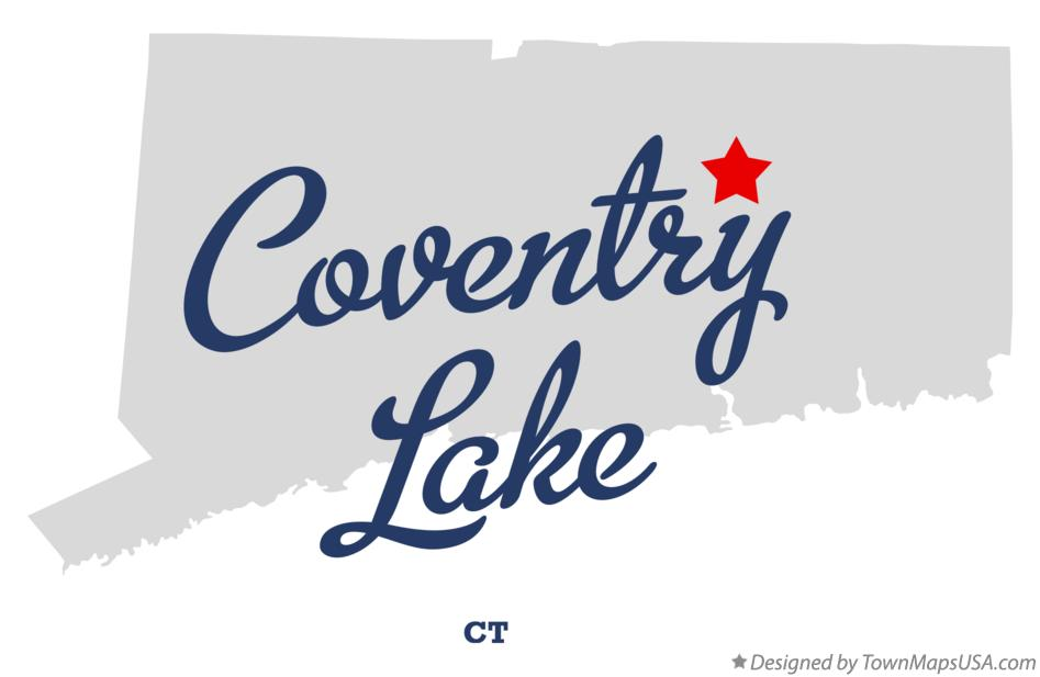 Map of Coventry Lake Connecticut CT