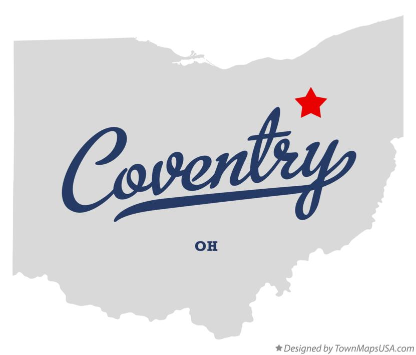 Map of Coventry Ohio OH