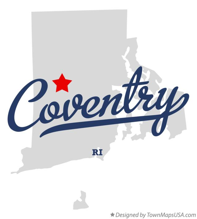 Map of Coventry Rhode Island RI