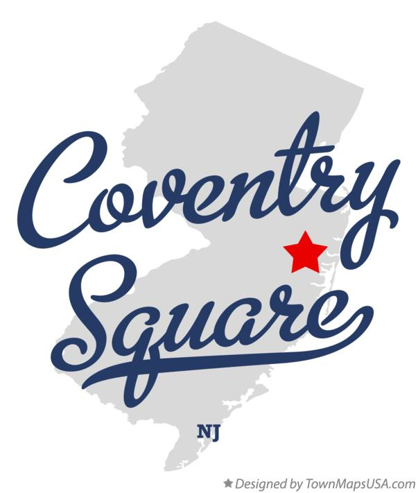 Map of Coventry Square New Jersey NJ
