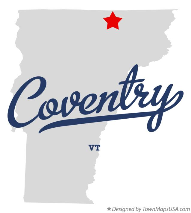 Map of Coventry Vermont VT