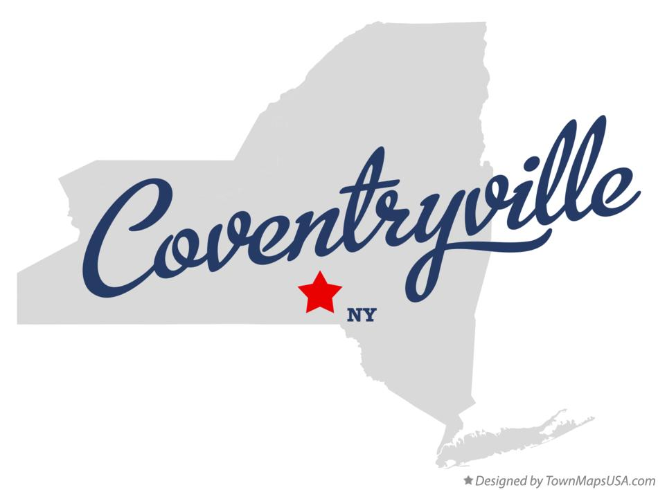 Map of Coventryville New York NY