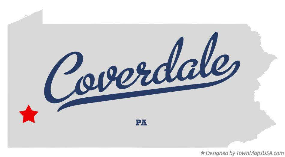 Map of Coverdale Pennsylvania PA