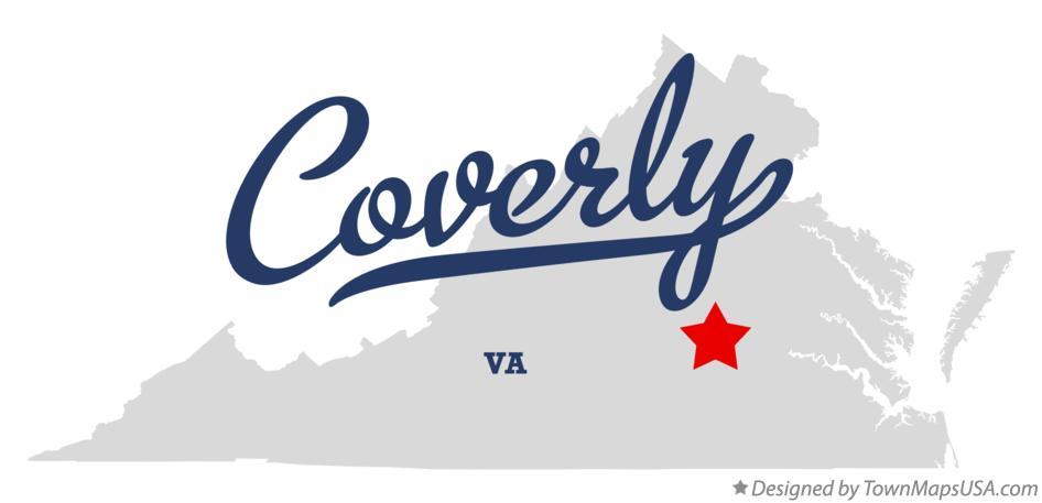 Map of Coverly Virginia VA