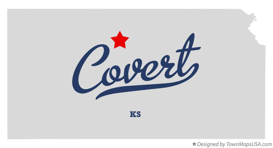 Map of Covert Kansas KS