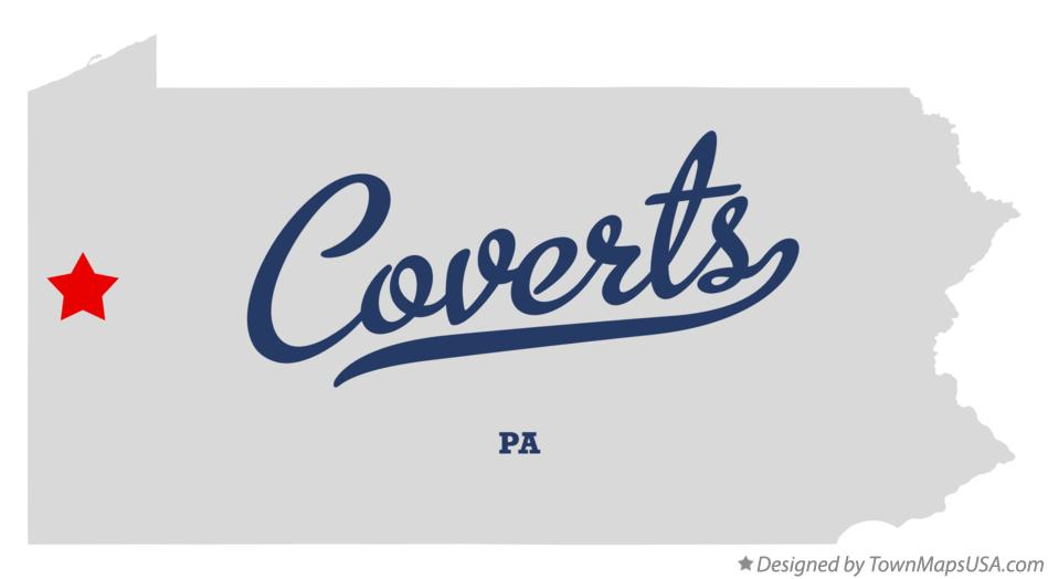 Map of Coverts Pennsylvania PA