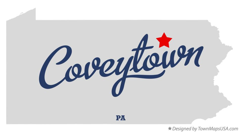 Map of Coveytown Pennsylvania PA