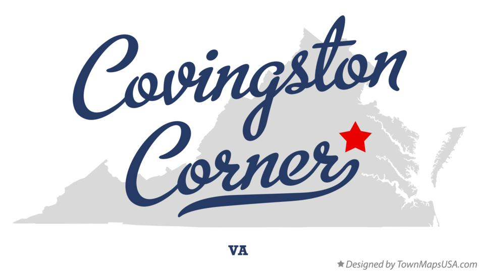 Map of Covingston Corner Virginia VA