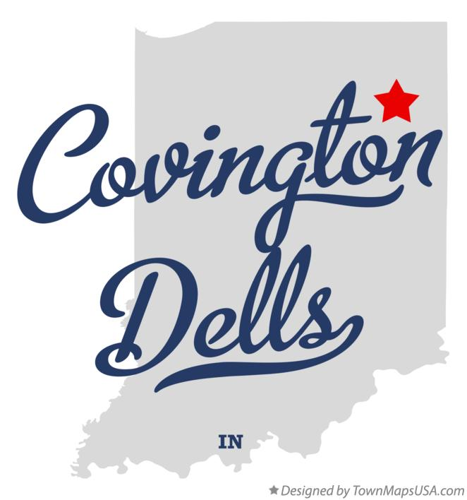 Map of Covington Dells Indiana IN