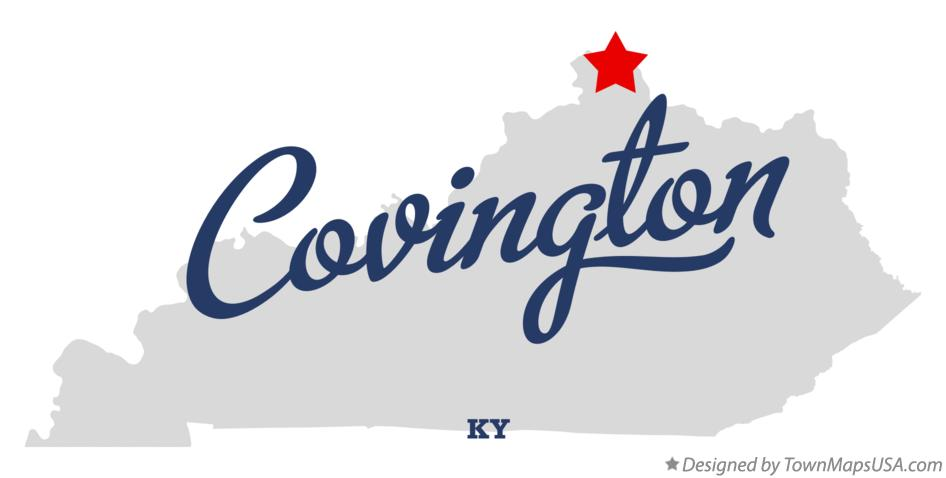 Map of Covington Kentucky KY
