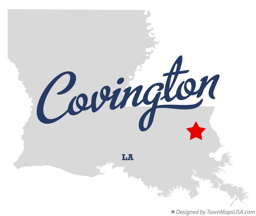 Map of Covington Louisiana LA