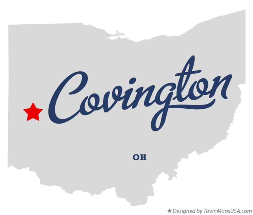 Map of Covington Ohio OH