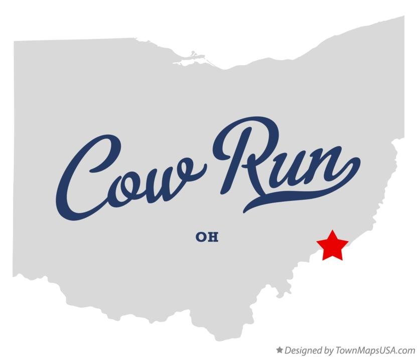 Map of Cow Run Ohio OH
