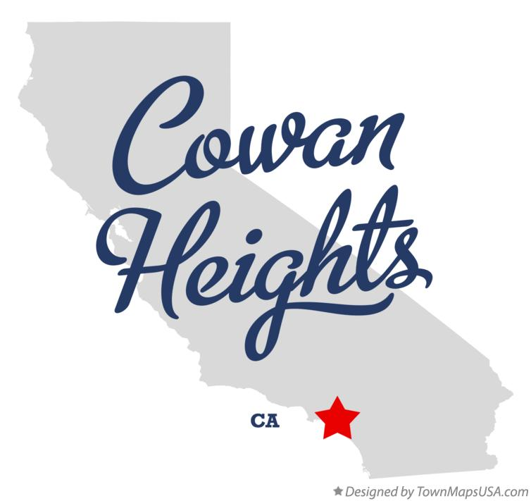 Map of Cowan Heights California CA