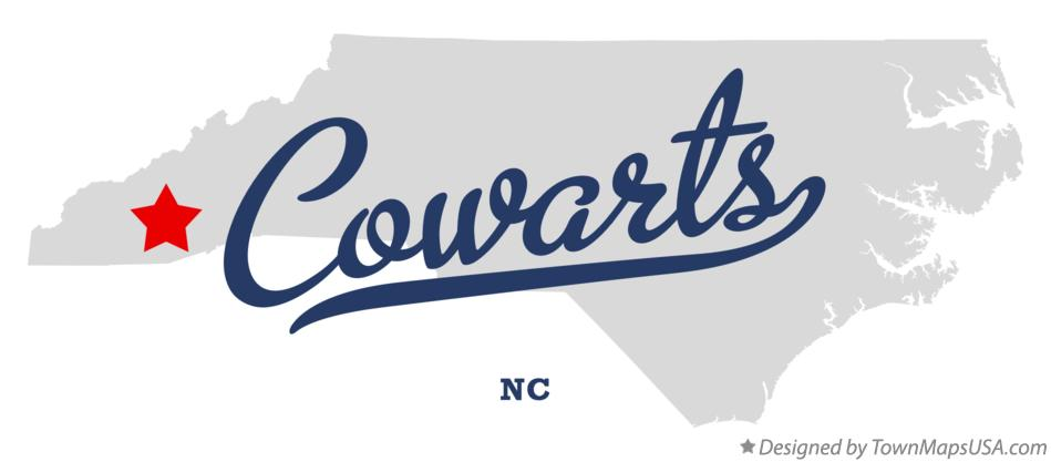 Map of Cowarts North Carolina NC