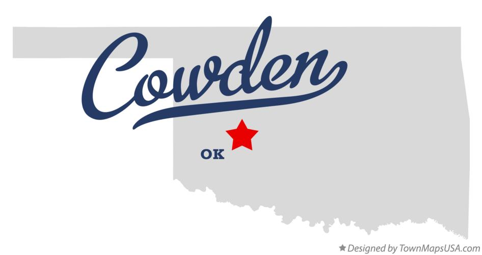 Map of Cowden Oklahoma OK