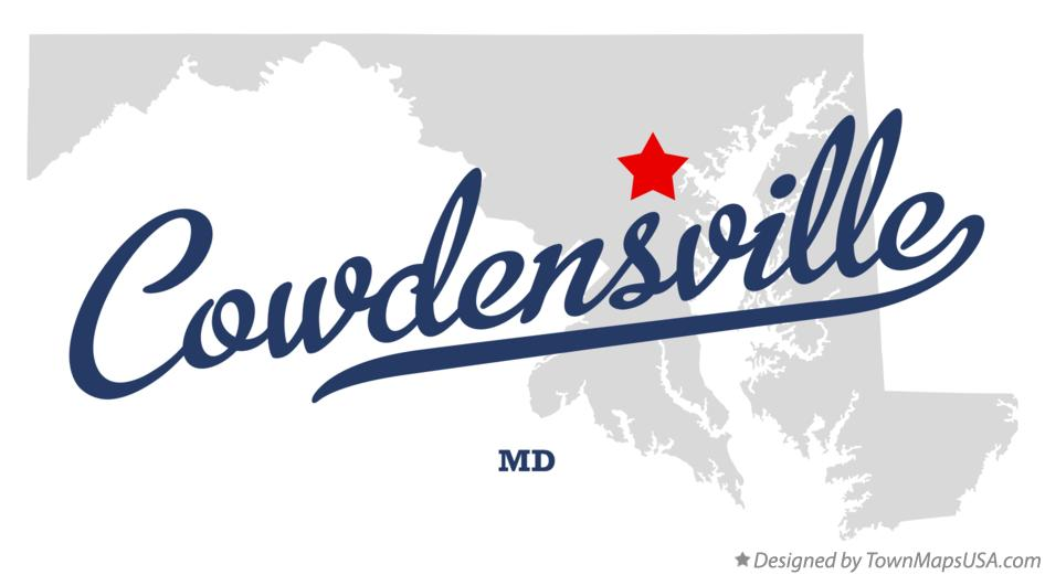 Map of Cowdensville Maryland MD