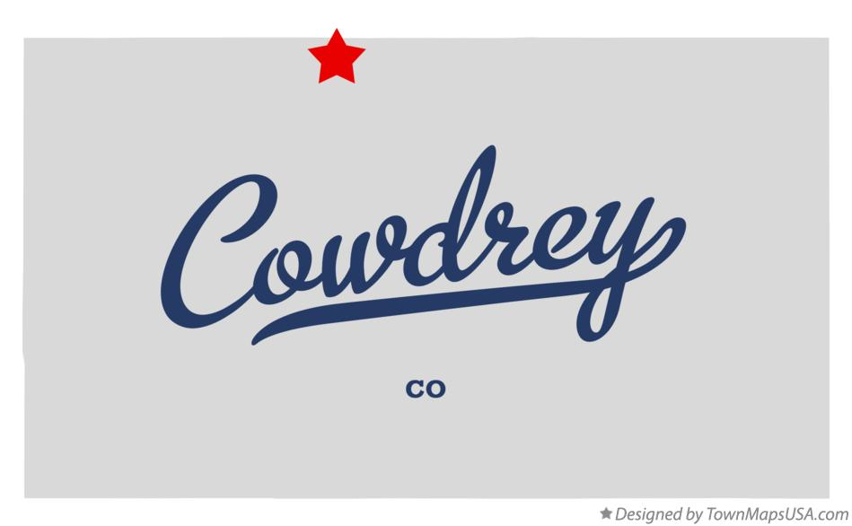 Map of Cowdrey Colorado CO