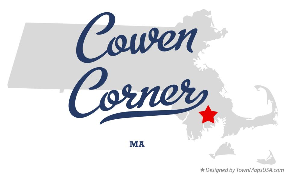 Map of Cowen Corner Massachusetts MA